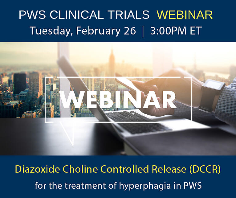 Clinical Trial Webinar: DCCR for the treatment of hyperphagia in PWS