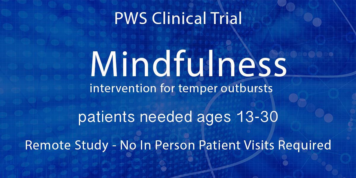 Mindfulness Intervention Now Recruiting Patients ages 13 - 30