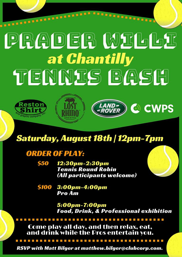 Chantilly Tennis Bash
