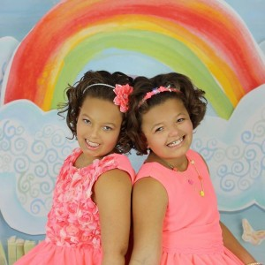 Twins, Aaliyah and Alivia Byrd age 8