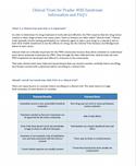 PWS Clinical Trials FAQ