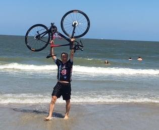 Paul bike in ocean-1