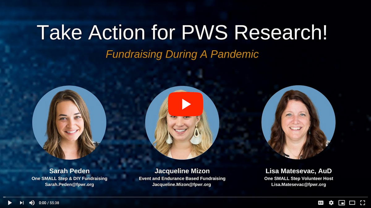 Take Action for PWS Research Fundraising Panel [2020 CONFERENCE VIDEO]