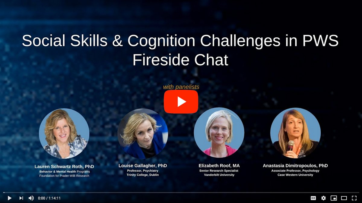 Social Skills and Cognition Challenges in PWS [2020 CONFERENCE VIDEO]