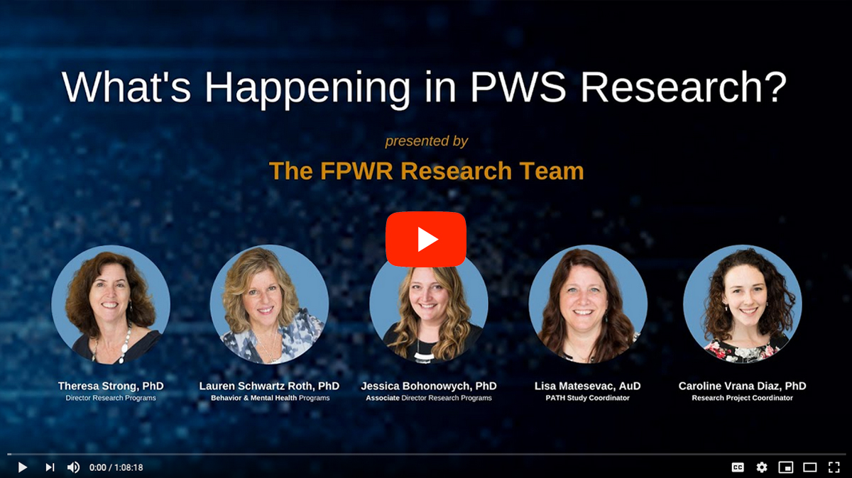 What's Happening in PWS Research [2020 CONFERENCE VIDEO]