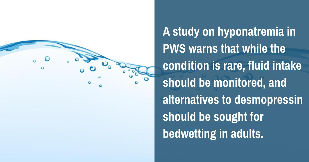 Hyponatremia In PWS Is Rare But Fluid Intake Should Still Be Monitored