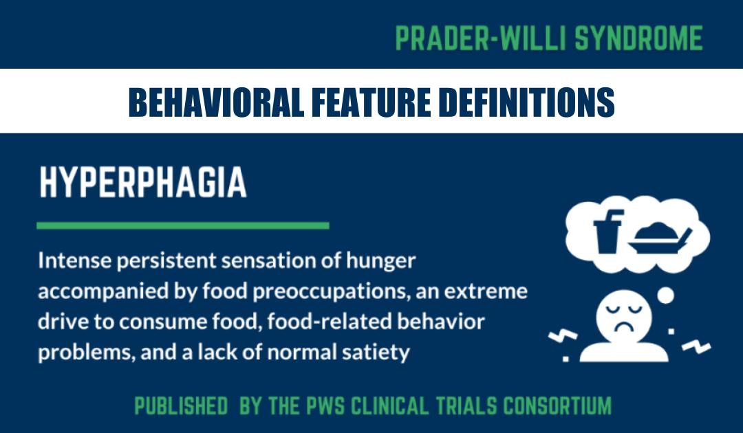 New Paper Provides Definitions of Common PWS Behavioral Features