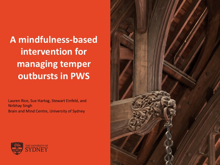 PWS Clinical Trial Webinar: Mindfulness for Temper Outbursts in PWS