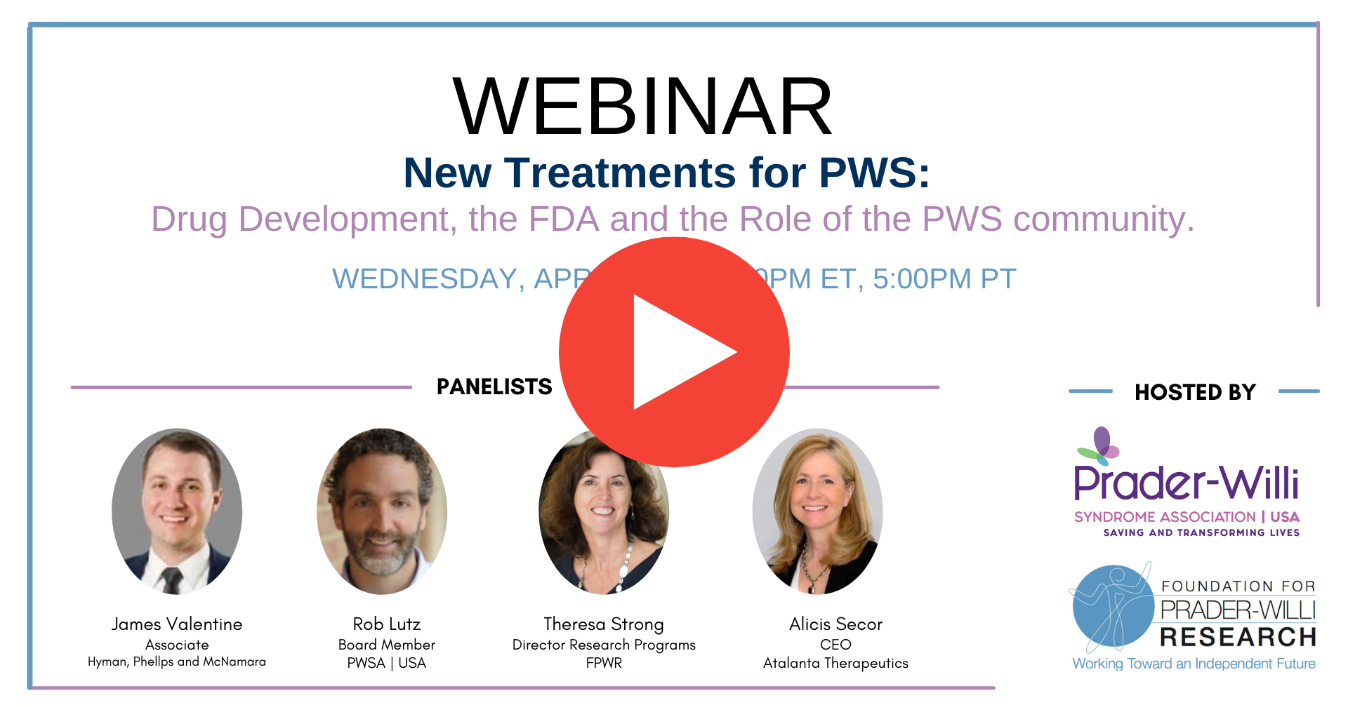 Drug Development, the FDA and the Role of the PWS Community [WEBINAR]