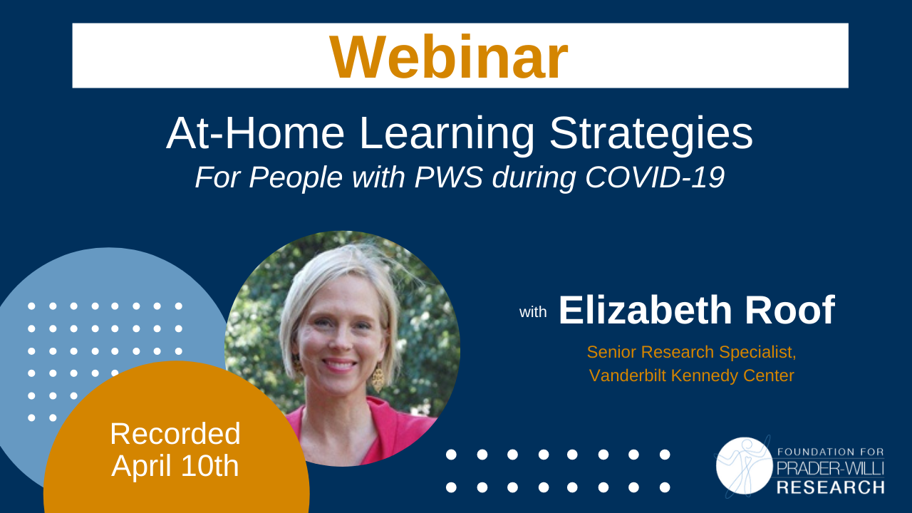 At-Home Learning Strategies for Students with PWS During COVID-19
