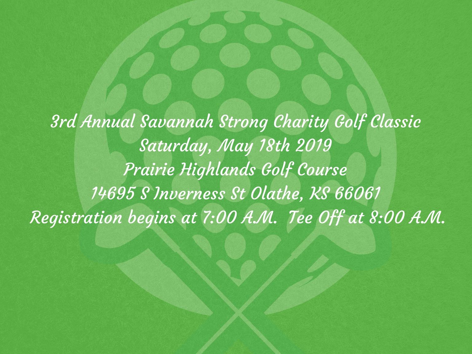 3rd Annual Savannah Strong Charity Golf Classic