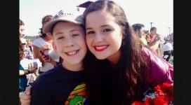 Ariana Garagozza with brother at HS graduation.